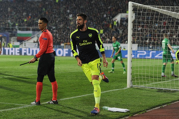 Olivier Giroud happy at Arsenal despite of struggling this season