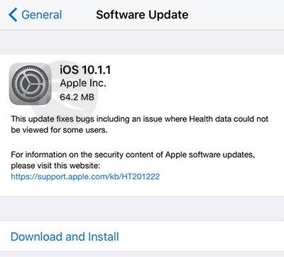 تحميل النسخة النهائية من iOS 10.1.1 لل iPhone و iPad بروابط مباشرة