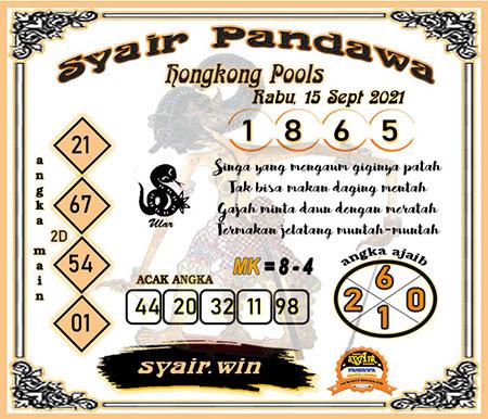 Syair Pandawa HK Rabu 15-Sep-2021