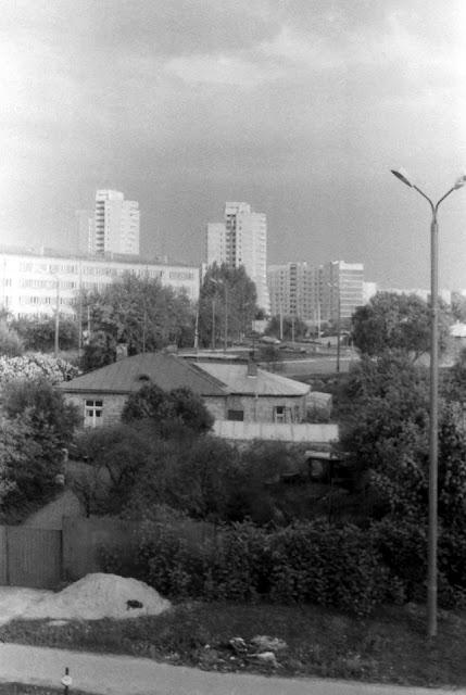 1979 год или начало 1980-х годов. Пурвциемс. Высотные дома на улице Мадонас, 21 и 23