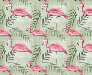 Pink flamingo fabric design