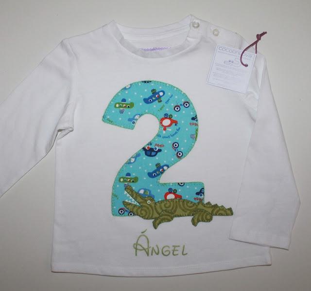camiseta cumpleaños 2 años cocodrilo