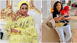 Lizzy Anjorin curses Toyin Abraham after sharing hospital video from her childbirth (screenshots)