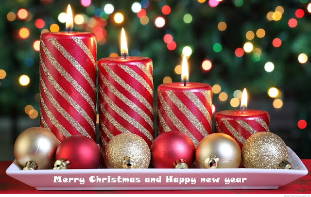 Happy New Year & Merry Christmas Free Wallpapers