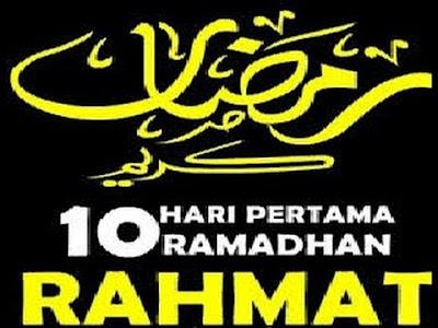 Pembagian 10 hari di bulan Ramadhan