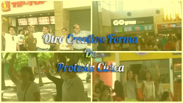 Manifestación Cívica En Varios Centros Comerciales De Managua