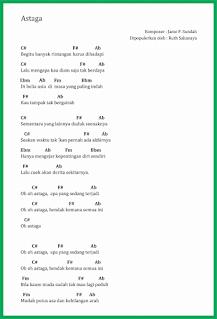 chord lagu astaga ruth sahanaya