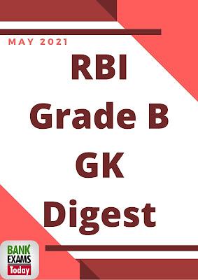 RBI Grade B GK Digest: May 2021