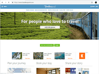 Travellerspoint: a resource site made especially for travelers