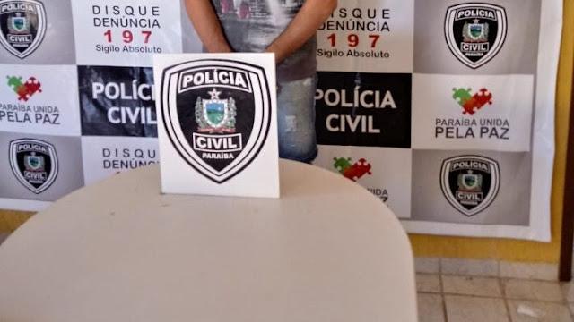 Acusado de matar homem em Riacho dos Cavalos e preso pela Policia Civil de Catolé do Rocha