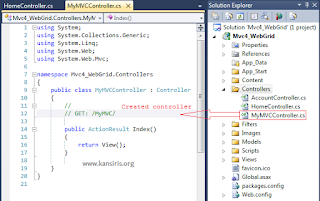 Understanding Controllers and Actions in MVC Razor | KANSIRIS