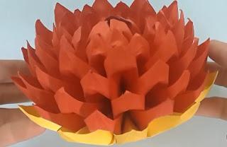 gấp giấy origami - hoa sen 2