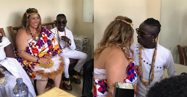 Patapaa's wife refute  claims that her family refused to attend her wedding ceremony