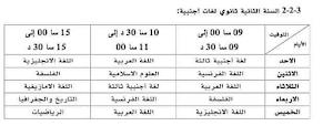 برنامج وتوقيت بث دروس الفصل الثالث 2020 للسنة الثانية ثانوي لغات اجنبية