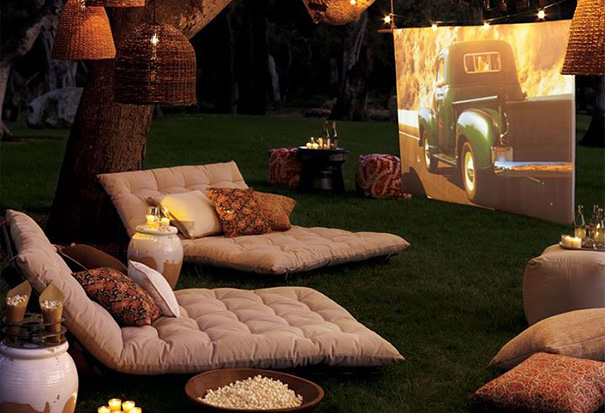 A Backyard Cinema in house