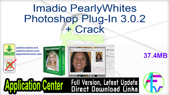 Imadio PearlyWhites Photoshop Plug-In 3.0.2 + Crack