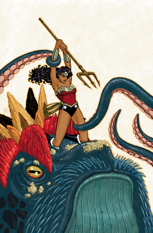 Wonder Woman #5 cover drawn by Cliff Chiang