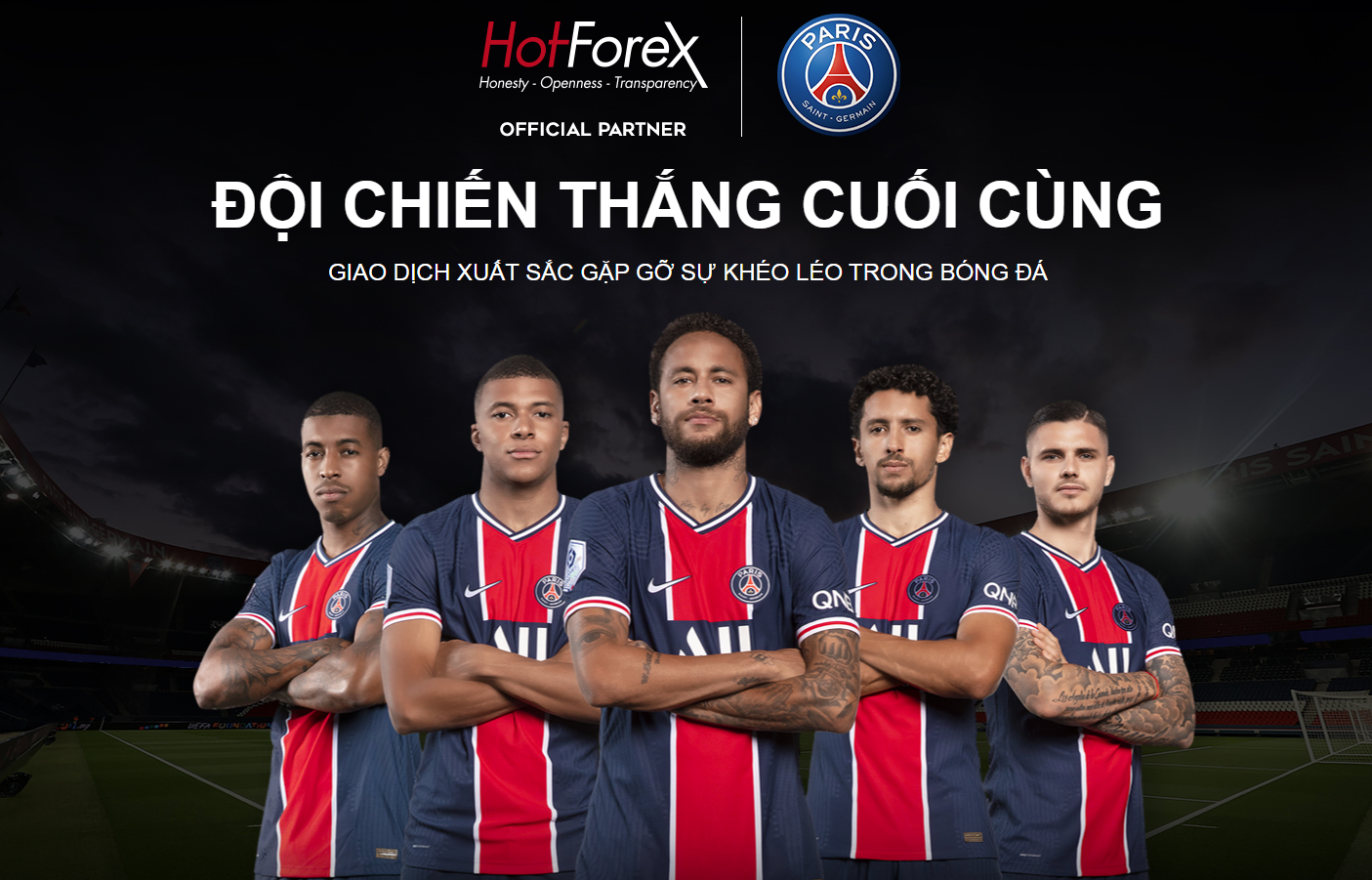 HotForex is an Official Partner of French giant Paris Saint-Germain F.C.!