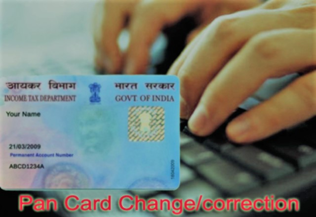 PAN Card Correction Form - Download PAN Card Application Online