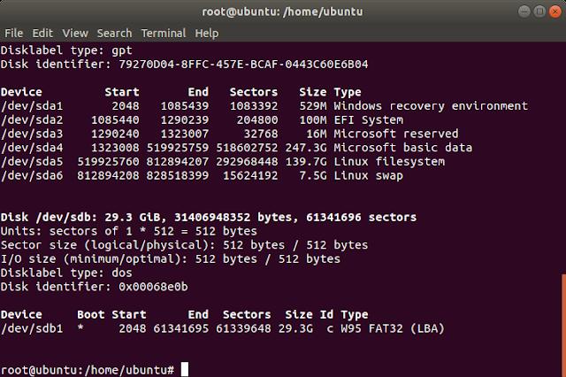 fdisk ubuntu
