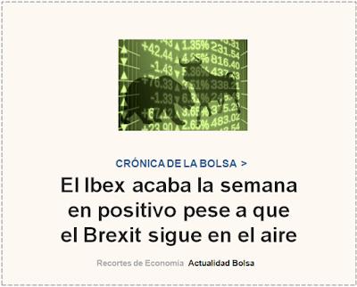 CRONICA BURSATIL SEMANAL. Cinco Días, 18 de Octubre 2019.