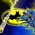 Batman en Amarillo y Azul: Invitaciones de Cumpleaños para Imprimir Gratis.