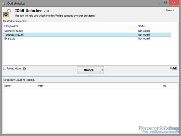 IObit Unlocker v1.1 Español Elimina Archivos que no se Pueden Eliminar