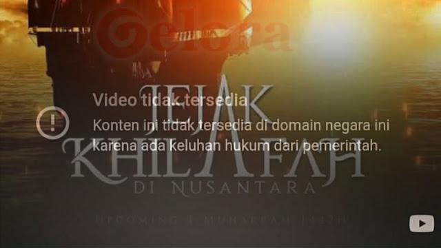 Film 'Jejak Khilafah di Nusantara' Trending di Youtube, Kini Diblokir Pemerintah?