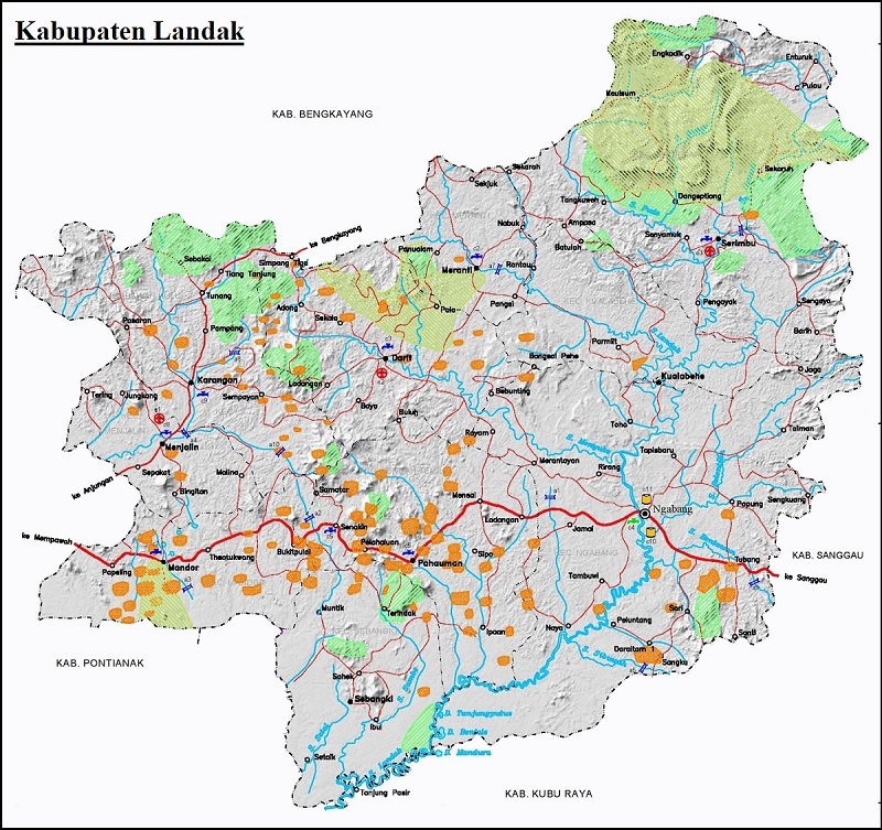 Peta Kabupaten Landak