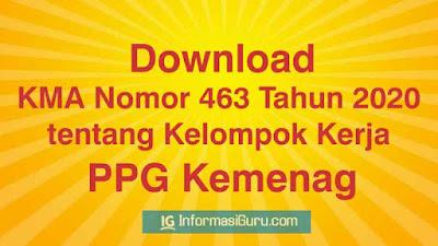 Download KMA Nomor 463 Tahun 2020 tentang Kelompok Kerja Program Pendidikan Profesi Guru (PPG) Pada Kementerian Agama/ Kemenag I PDF