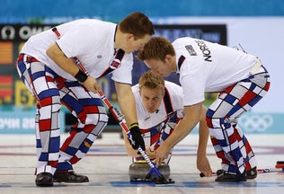 Norway curling team pants Olympics