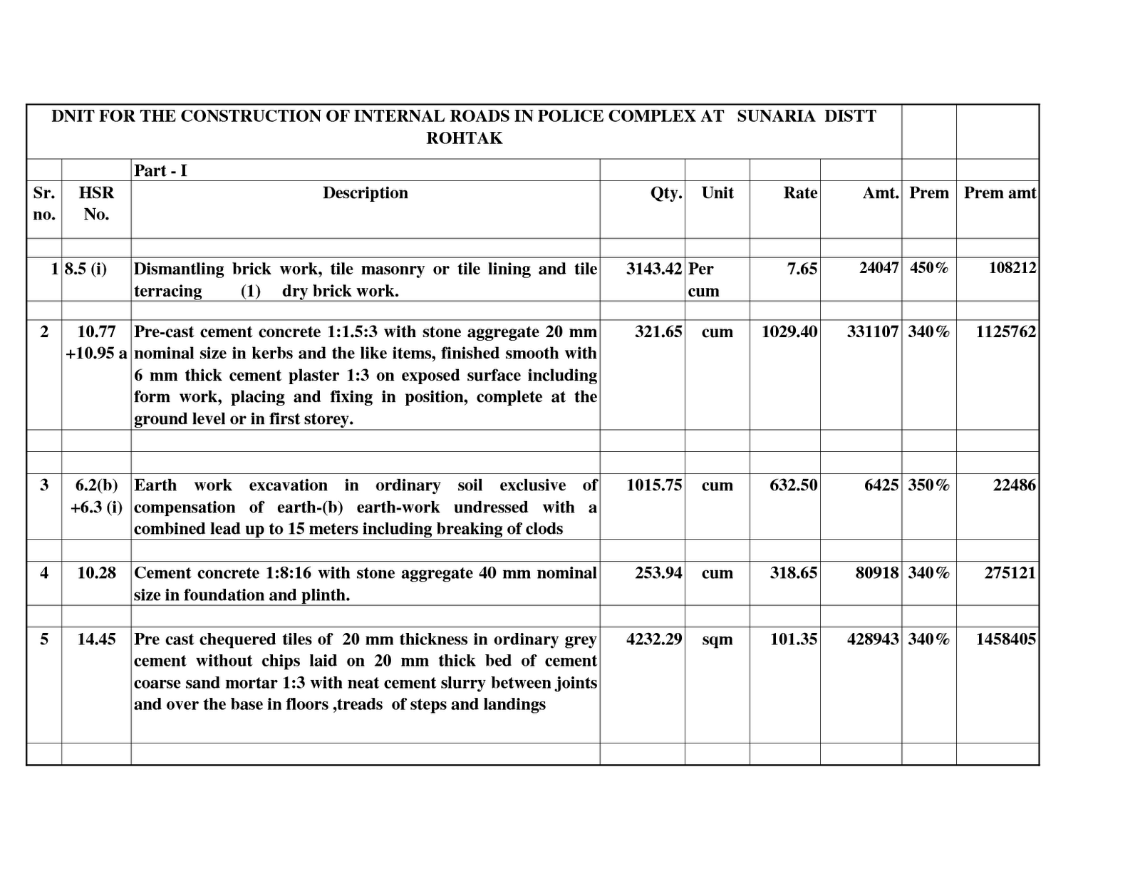 House Construction Sample Bill Of Materials For House