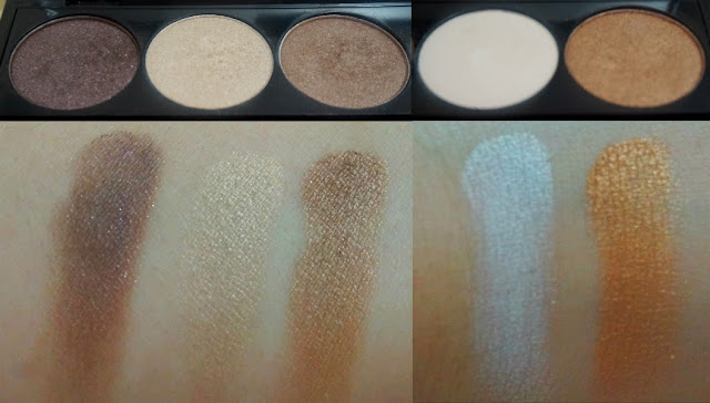 Swatches: NYX I Dream of St. Marteen 5-Color Eye Shadow Palette