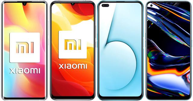 Xiaomi Mi Note 10 Lite vs Xiaomi Mi 10 Lite 5G vs Realme X50 5G vs Realme 7 Pro