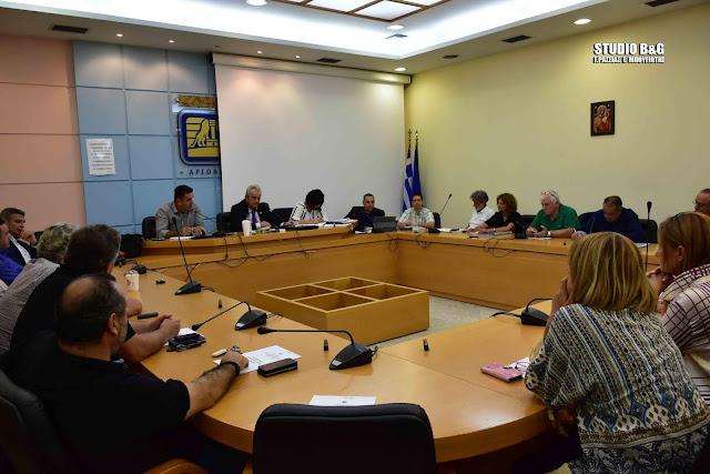 Δια περιφοράς Δημοτικό Συμβούλιο στο Ναύπλιο με 10 θέματα