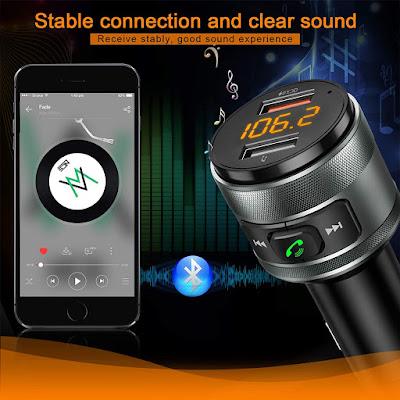 جهاز إرسال إف إم بتقنية البلوتوث للسيارة من إيمدن، محول راديو
