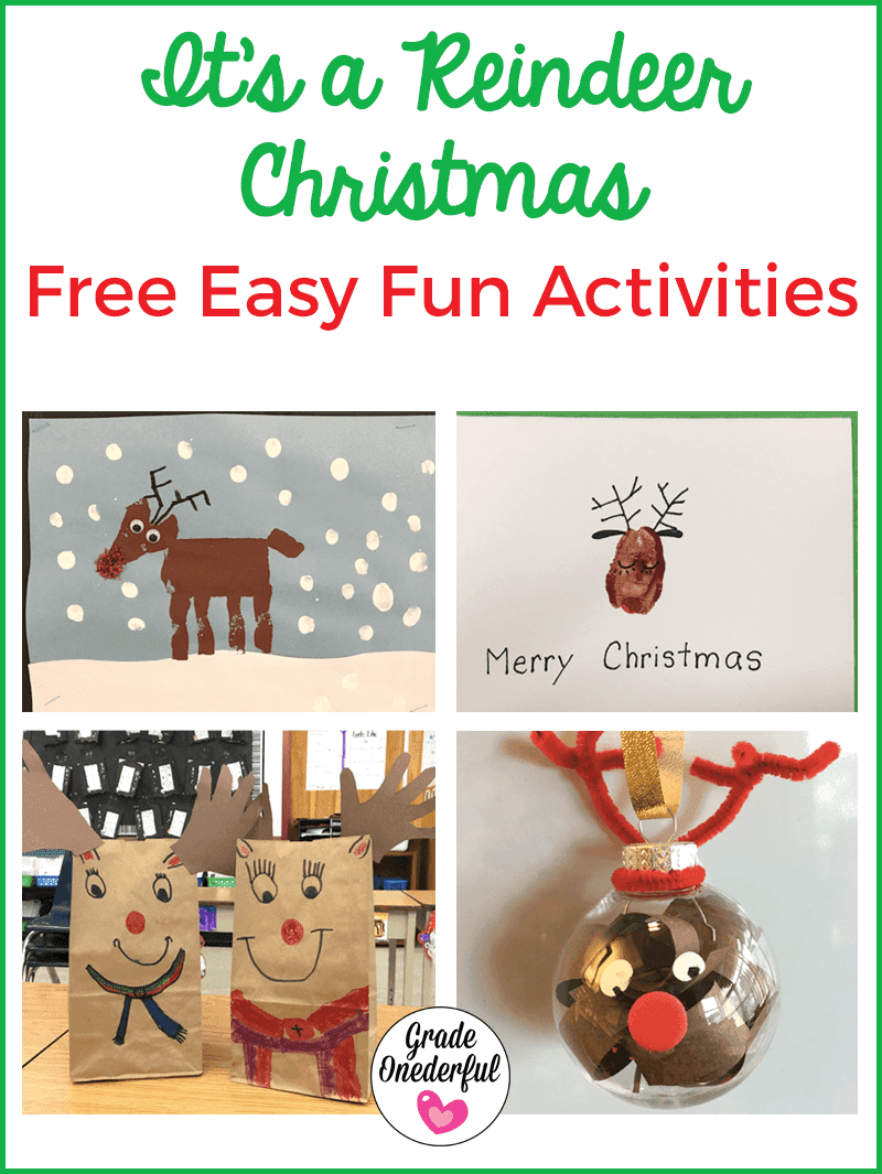 Lots of reindeer art activities for primary classes