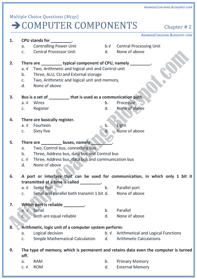 Artificial Intelligence Questions and Answers Set 1