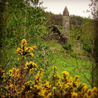 Ireland Images: round tower at Glendalough