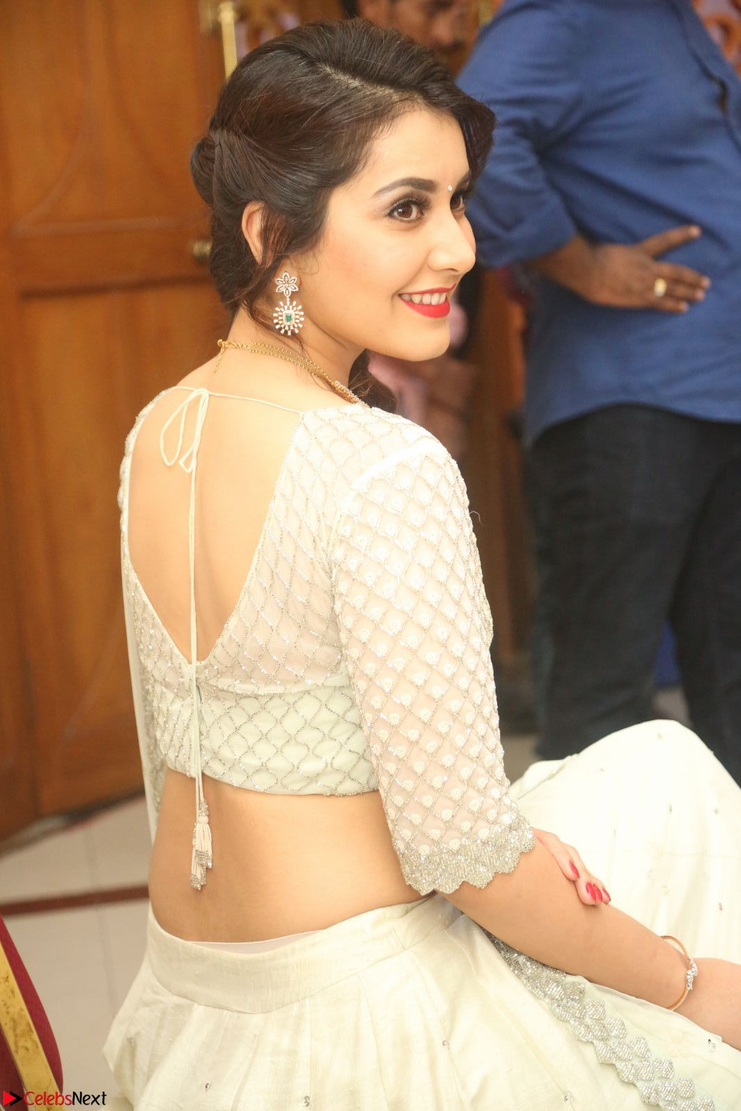 Raashi Khanan looks stunning in Crop Top Deep neck Choli Ghagra Transparent Chunni WOW ~ CelebsNext Exclusive Celebrities Galleries