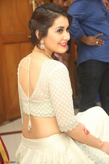 Raashi Khanan looks stunning in Crop Top Deep neck Choli Ghagra Transparent Chunni WOW ~ Exclusive Celebrities Galleries 005
