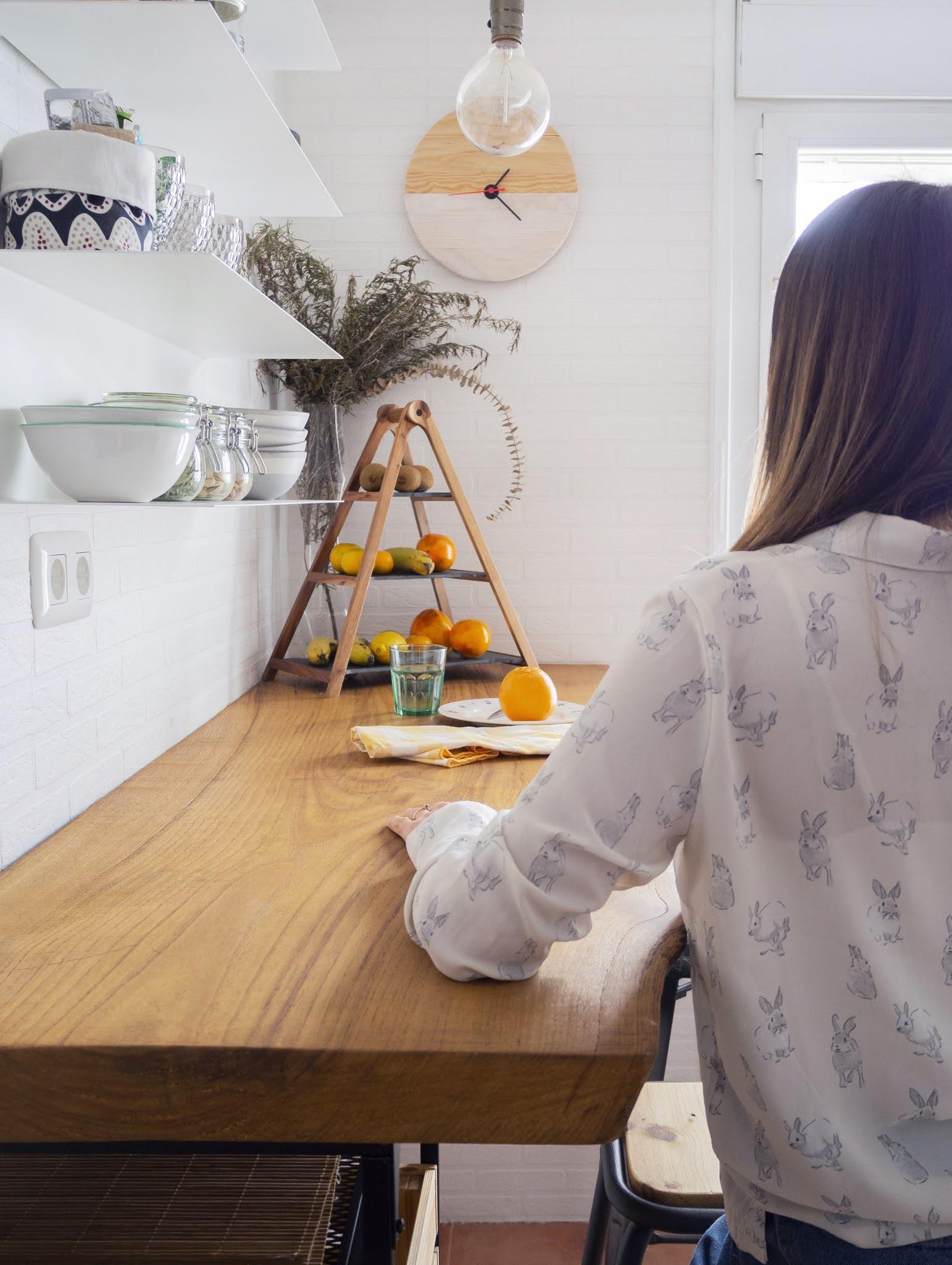 DIY Reloj de madera para nuestra cocina10