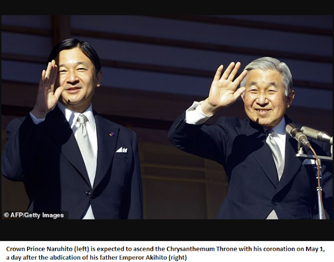 45 percent of Japanese 'workaholic' citizens are 'unhappy' about being given ten-day holiday to mark the coronation new emperor