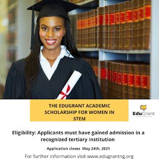 EduGrant Academic Scholarship Form for Women In STEM 2021