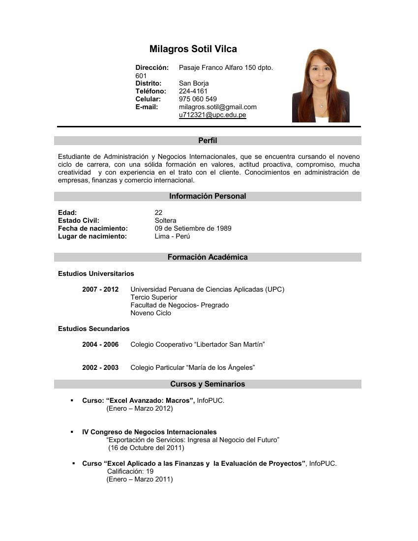 Mi Blog Personal Mi Curriculum Vitae Por Logros