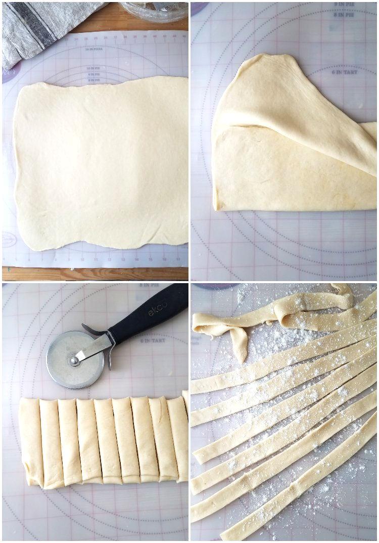 Cómo hacer las tiras de masa para tequeños