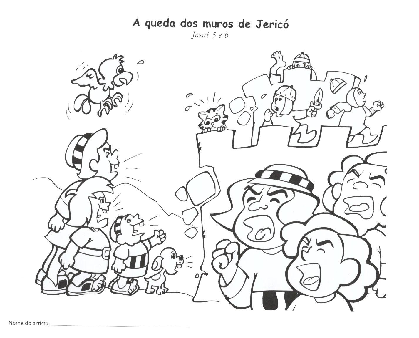 josué e a conquista de jericó desenhos e atividades
