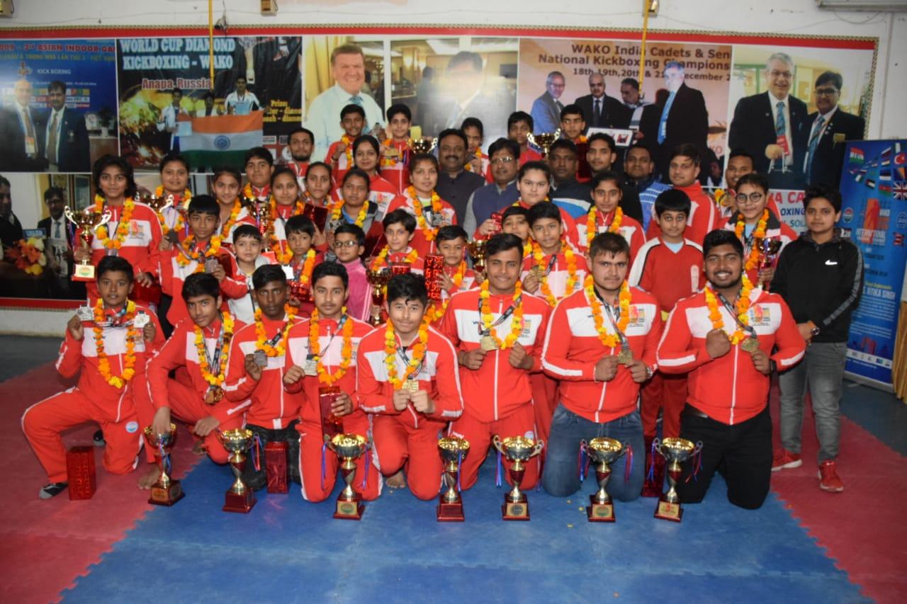 इंडियन ओपन अंतर्राष्ट्रीय किकबॉक्सिंग प्रतियोगिता' में हरियाणा ने 27 स्वर्ण पदक, 19 रजत पदक 11 कांस्य पदक जीते