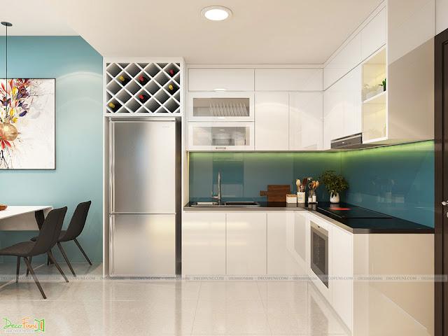 Nội thất phòng bếp chung cư 65m2 - 2 phòng ngủ - 2