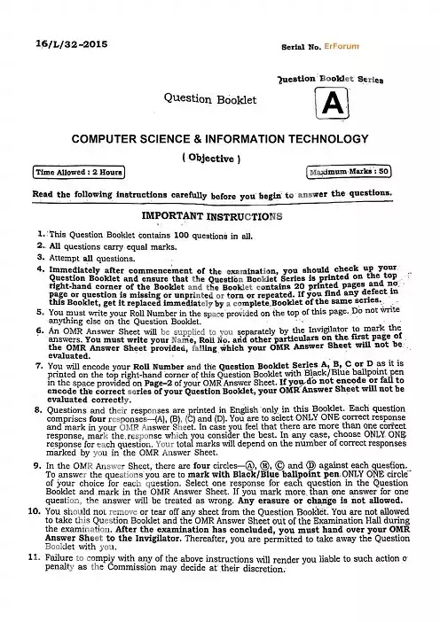 [PDF] BPSC Lecturer Computer Science Engineering Solved Paper